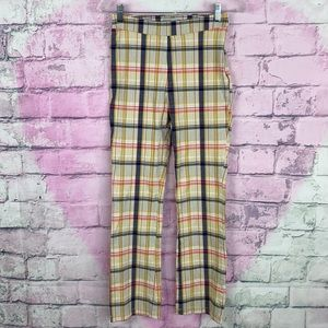 Urban Outfitters plaid skinny high rise pants 2